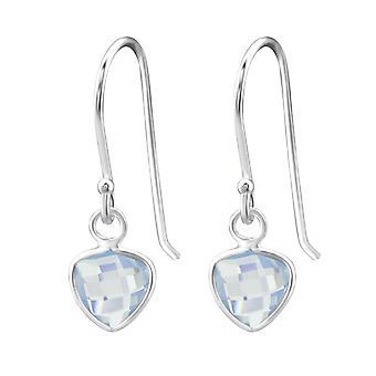 Dreieck - 925 Sterling Silber Opal und halb kostbaren Ohrringe - W27978X