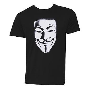 V for Vendetta Mask Men's T-Shirt