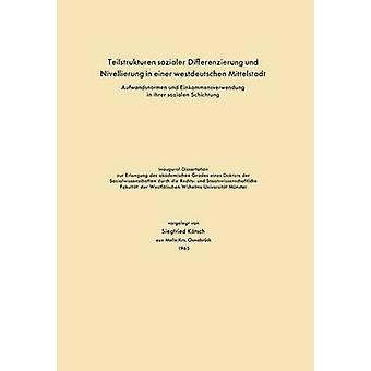 Teilstrukturen Sozialer Differenzierung Und Nivellierung in Einer Westdeutschen Mittelstadt Aufwandsnormen Und Einkommensverwendung in Ihrer Sozialen by Katsch & Siegfried