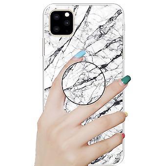 Capa protetora para Apple iPhone 11 6,1 polegadas branco 3D mármore TPU caso de silicone