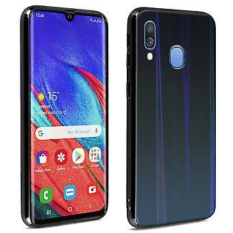 Samsung Galaxy A40 Funda Brillante Diseño Holográfico-Aurora Colección Negro