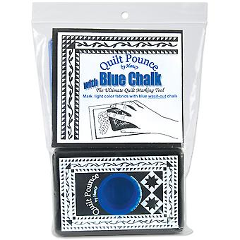 Quilt Pounce Pad With Chalk Powder 4 Ounces Blue Qpb