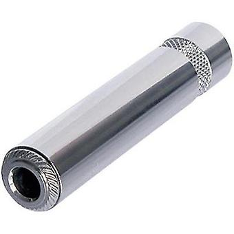 6.35 mm audio jack Socket, straight Number of pins: 2 Mono Silver Rean AV NYS2202P 1 pc(s)