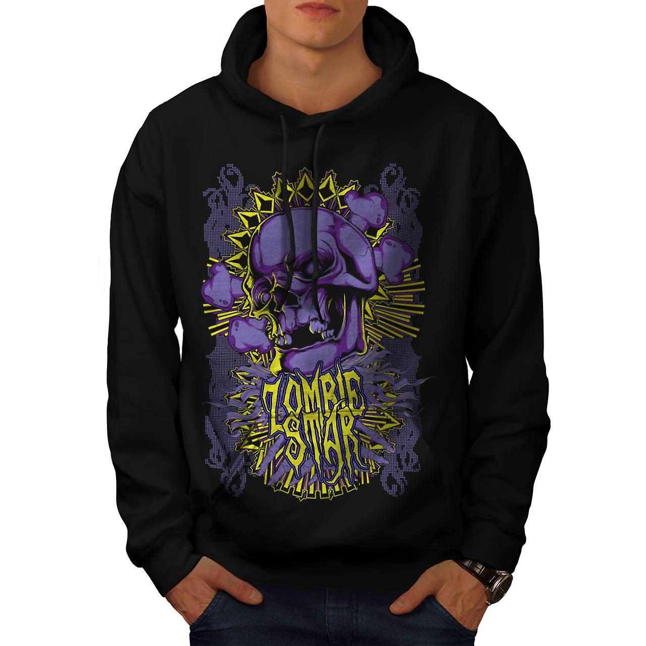 Monster Zombie Star Devils Zone Men Black Hoodie | Wellcoda