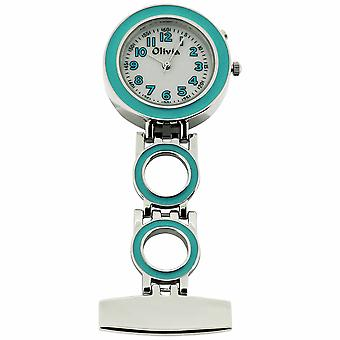 Fob Watch for Nurse Doctor Paramedic Unisex White Dial The Olivia Collection