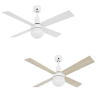 Ceiling fan Airfusion Quest II White with lighting and remote control