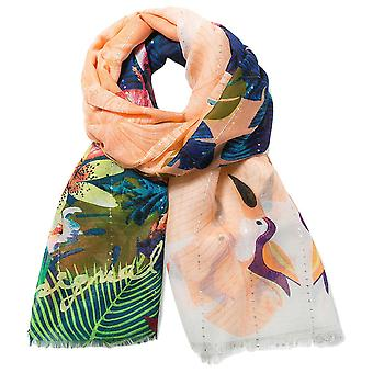 Desigual Halstuch Pashmina Foulard Rectangle Tropicla Fly 74W9EF4/7011