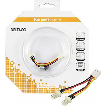DELTACO adapter cable for 3-pin fans, Y-cable 2-1
