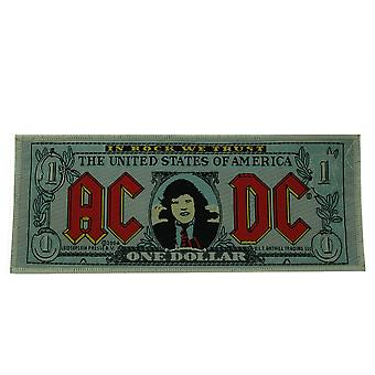 AC/DC Bank Note Woven Patch