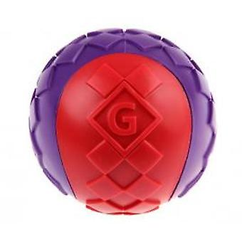Gigwi Ball 'squeaker' Solid Red / Purple Medium 1pk