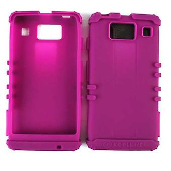 Unlimited Cellular Rocker Series Silicone Skin Case for Motorola XT926/MOTXT926M