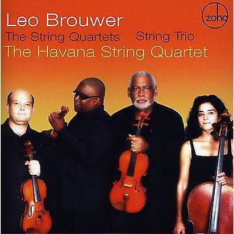 L. Brouwer - Leo Brouwer: Strygekvartetterne; Streng Trio [CD] USA importerer