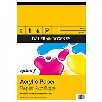 Daler Rowney System 3 Acrylic Gummed Pad A4