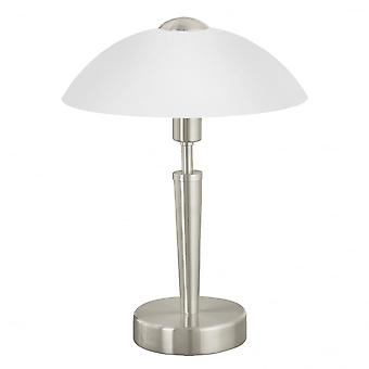 Eglo Solo1 1 Light Modern Table Lamp Domed White Frosted Glass S