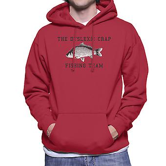 The Dyslexic Crap Fishing Team Black Men's Hooded Sweatshirt