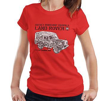 Haynes eiere Workshop manuell Land Rover Overland svarte kvinner t-skjorte