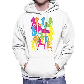 Sexy Naked Girls Silhouette Pop Art Men's Hooded Sweatshirt