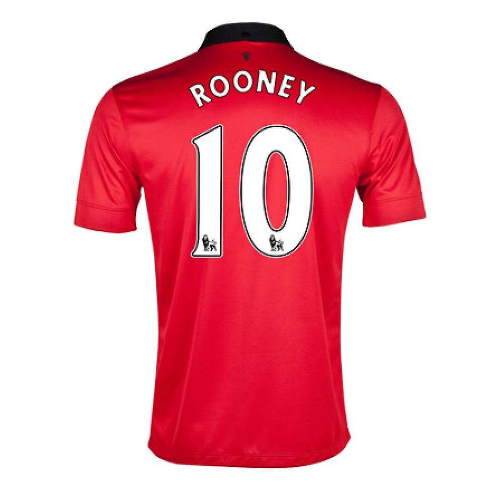 2013-14 man United hjem skjorte (Rooney 10) - barn