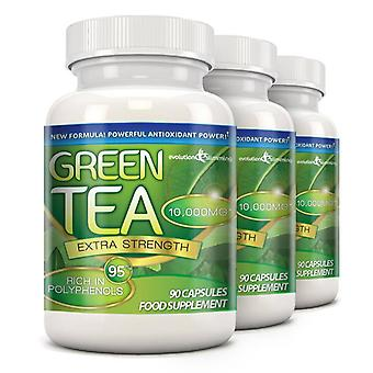 Green Tea Extra Strength 10,000mg with 95% Polyphenols - 270 Capsules (3 Months) - Evolution Slimming