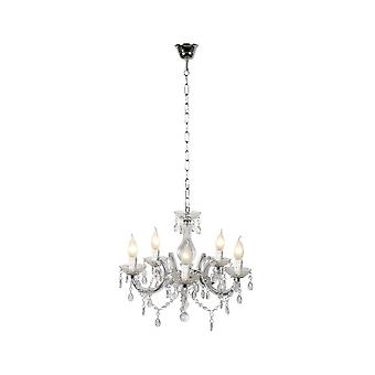 Lucide ARABESQUE Shabby Chic Clear Crystal Chandelier Pendant