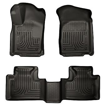 Husky Liners Floor Mats - WeatherBeater 99051 Black Fits: DODGE 2011 - 2014 DUR