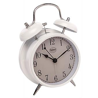 Balance Quartz Analog Alarm Clock White