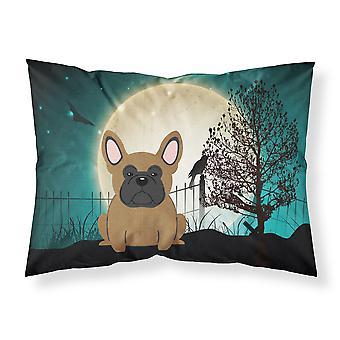 Halloween Scary French Bulldog Brown Fabric Standard Pillowcase