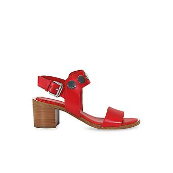 MICHAEL KORS REGGIE RED SANDAL
