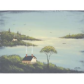 Salt Box by the Lake I Poster Print by John Sliney (16 x 12)