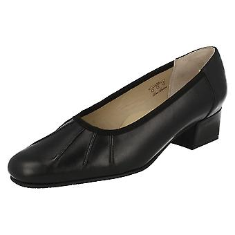 Ladies Equity Low Heel Wide Fitting Court Shoes Lucinda