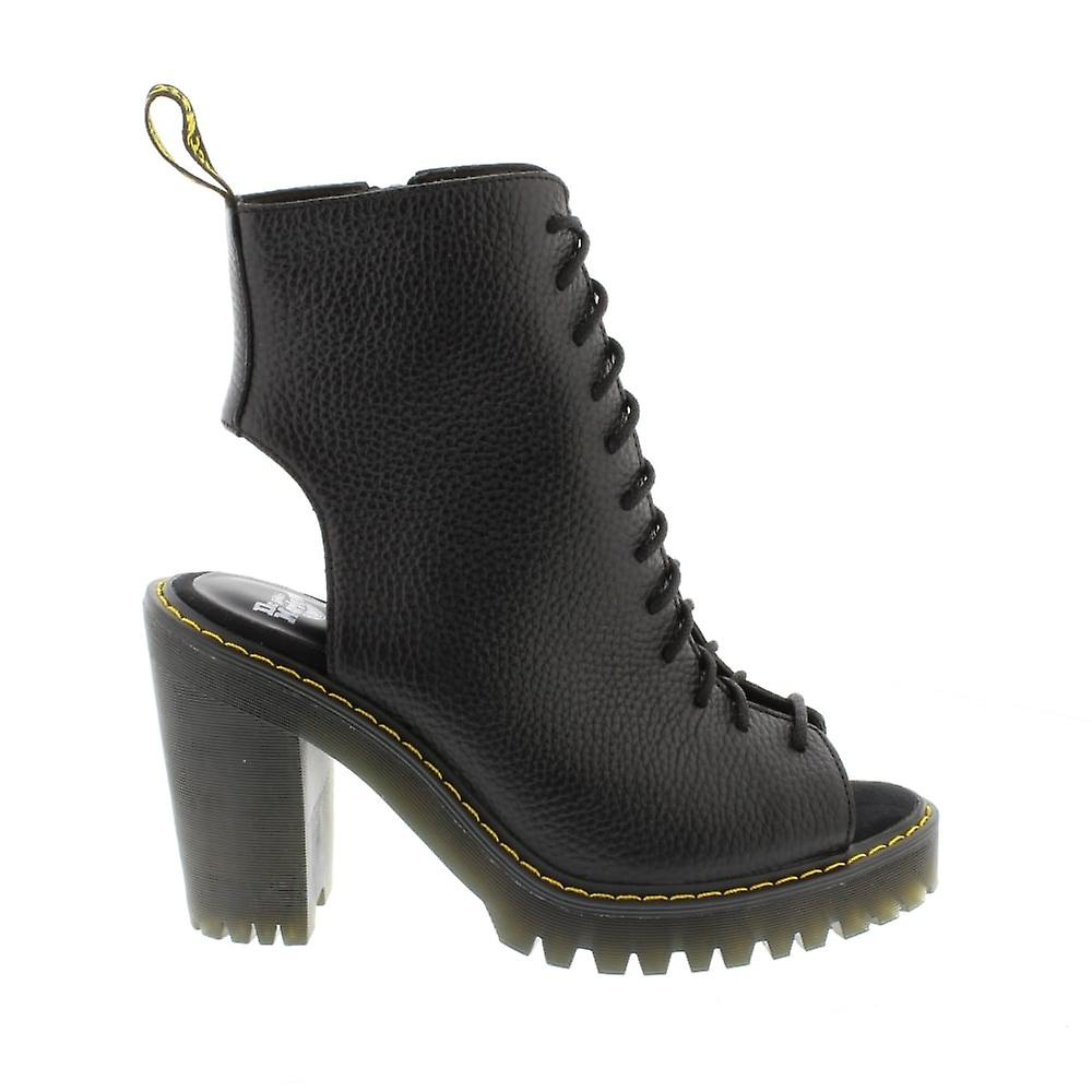 Dr Martens Carmelita - Black Aunt Sally (Leather) Womens Boots