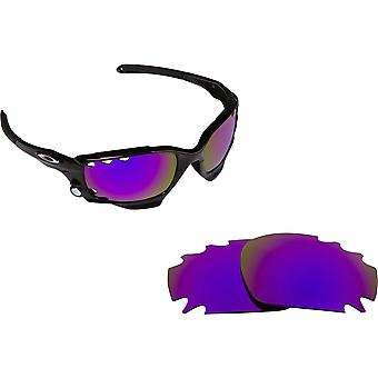 VENTED RACING JACKET Replacement Lenses Polarized Purple by SEEK fits OAKLEY