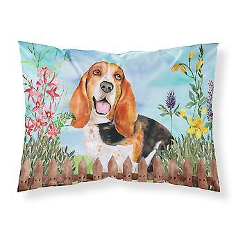 Basset Hound Spring Fabric Standard Pillowcase