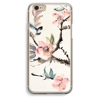 Iphone 6 6s Transparent Case (Soft) - Japenese flowers