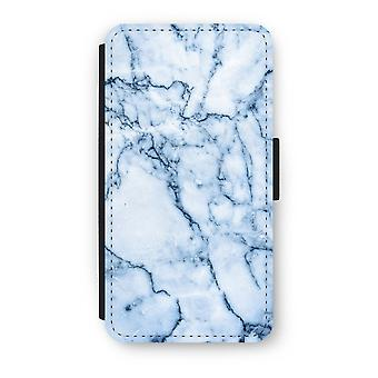 iPhone X Flip Case - Blue marble