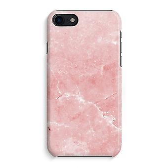 iPhone 8 Full Print saken (glanset) - rosa marmor