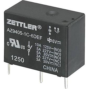 PCB relays 9 Vdc 10 A 1 change-over Zettler Electronics