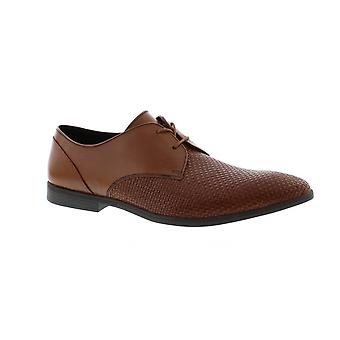 Clarks Bampton Weave - Tan Leather (Brown) Mens Shoes