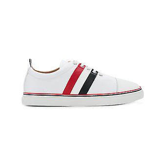 Thom Browne men's MFD091A00003100 White leather of sneakers