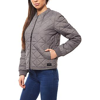 Lee nylon bomber women's bomber jacket grey pilots jacket