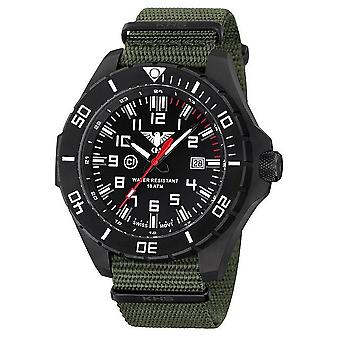 KHS watches mens watch black steel KHS country leader. LANBS.NO