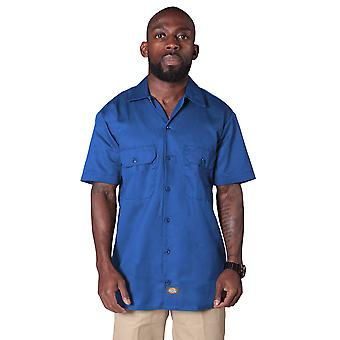 Dickies Short Sleeve Work Shirt - Royal Blue Dickies1574RB Mens Classic Shirt