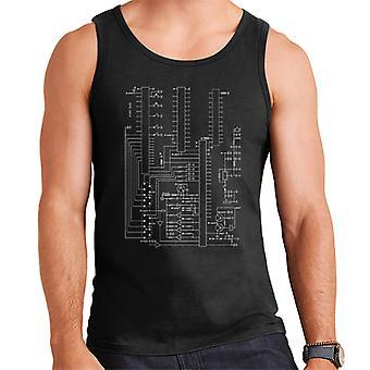 Atari 2600 Computer Schematic Men's Vest
