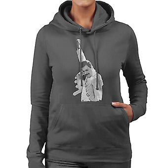 Freddie Mercury Of Queen Live In Newcastle 1986 Women's Hooded Sweatshirt
