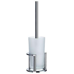 Outline Freestanding Toilet Brush frosted glass Polished Chrome FK102