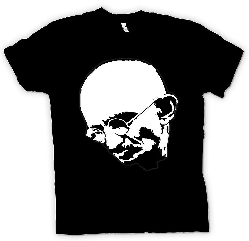 Mens T-shirt - Ghandi - BW - Stencil