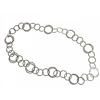 90 cm long silver chain - necklace - trendy chain - necklace - silver plated-