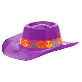 Pokoju z tworzywa sztucznego kowbojski kapelusz