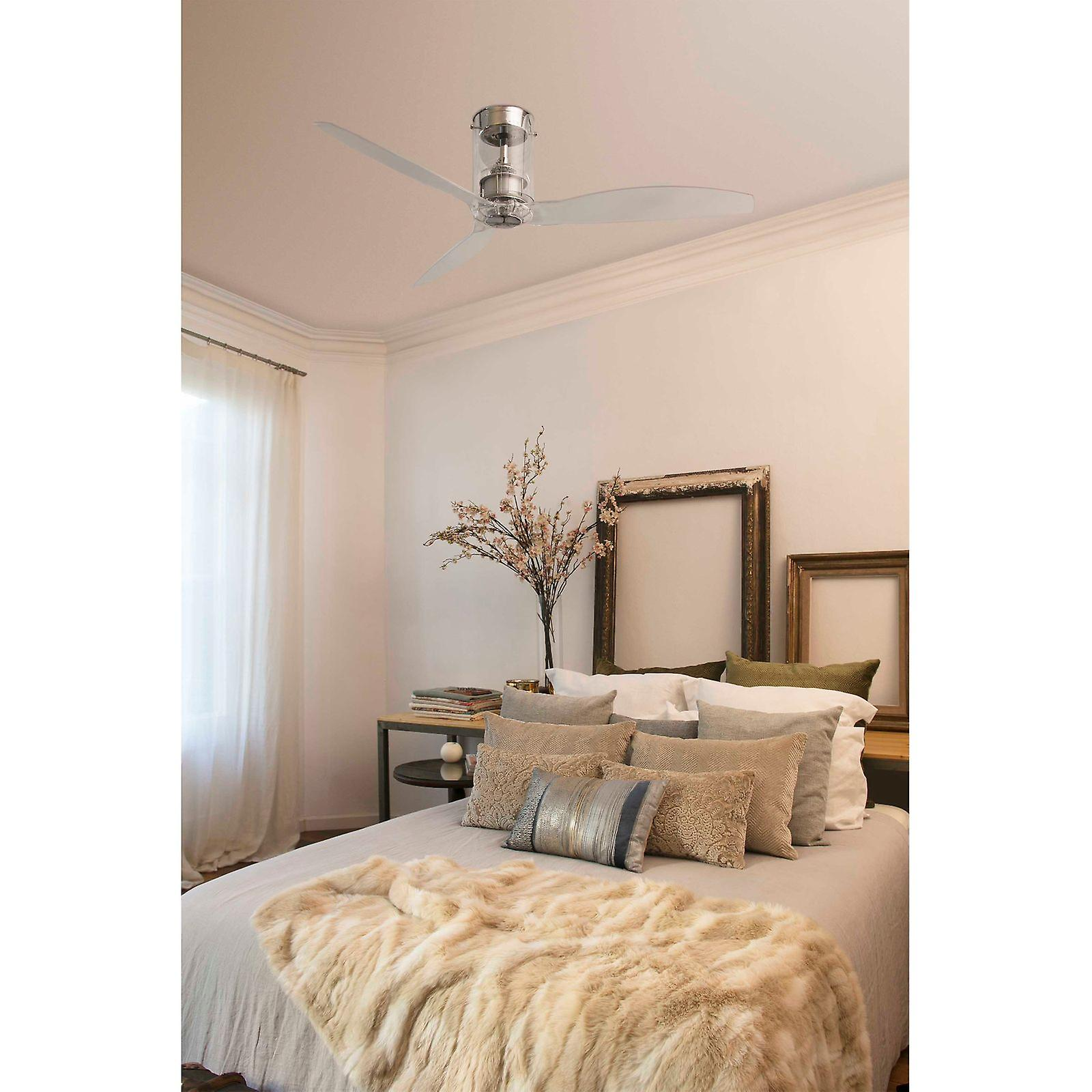 Energy-saving Ceiling Fan Mini Tube Chrome 128cm / 50