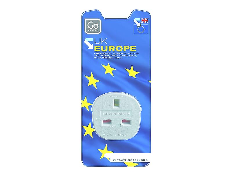 Go Travel Continental Adaptor (UK to Europe)
